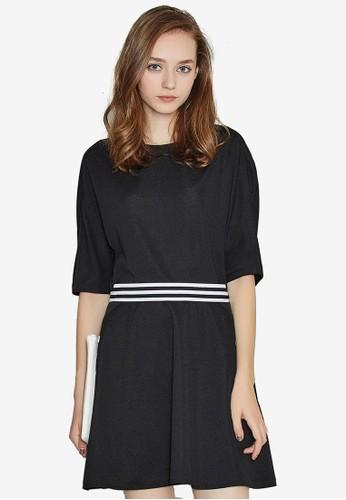 Hopeshow black Waist Striped Dress EB261AA70E71A2GS_1