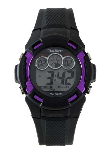 UniSilver TIME black Bucksie Men's Digital Rubber Watch KW2207-1003 E0D0AAC4C0F414GS_1