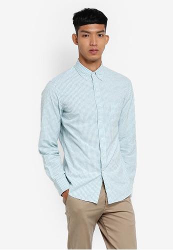 J.Crew blue Slim Parker Gingham Shirt 4AADAAAB6F5065GS_1