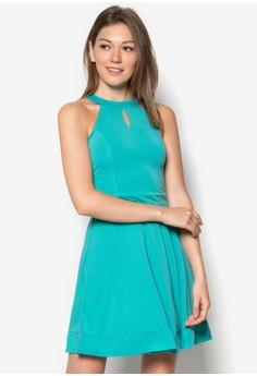 Cut In Flippy Dress