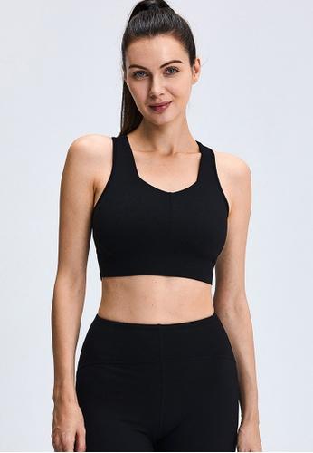 Trendyshop black Quick-Drying Yoga Fitness Sports Bras 41AB7US932755EGS_1