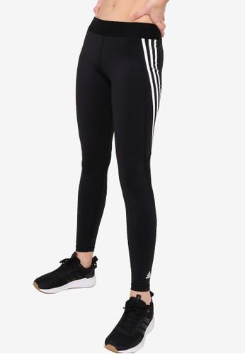 ADIDAS black alphaskin sport 3 stripe long tights EE3C2AA6980E88GS_1