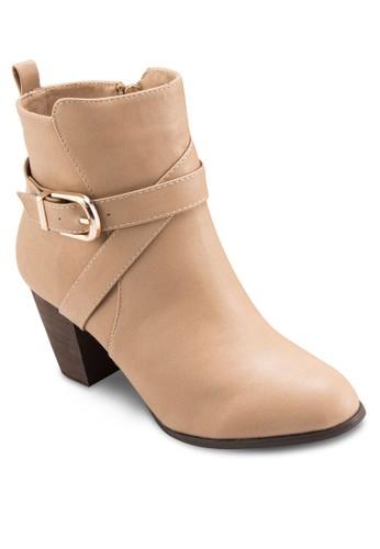 扣環帶esprit retail高跟短靴, 女鞋, 靴子