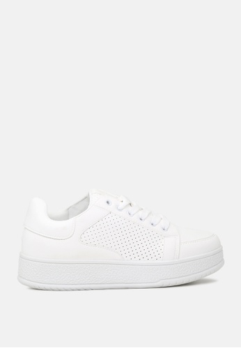 London Rag 白色 厚底系带运动鞋 16D0DSH19DEDC4GS_1