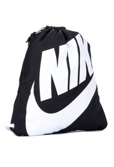 d4b38b93773 Nike black Unisex Nike Heritage Gym Sack 42E04ACAD070FAGS 1