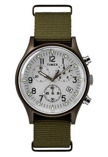 Timex green Timex MK 1 Aluminium Chronograph 40mm - Bronze Case, Olive Fabric Strap (TW2R67900) 7FA70ACFF6765CGS_1
