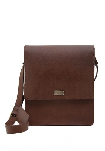 The Tannery Manila brown Grayson, Chestnut Timberland Genuine Leather Messenger Bag TH690AC0ISCNPH_1