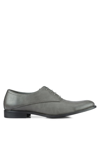ZALORA grey Essential Oxford Dress Shoes 9B457AAD9C2AD3GS_1