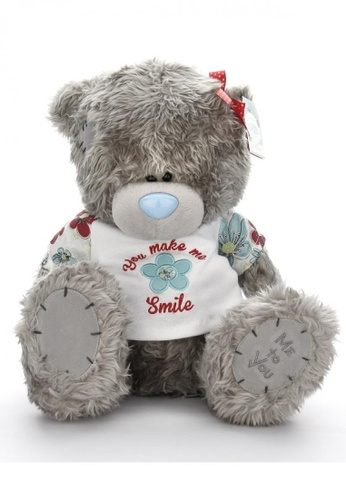 Her Jewellery Me to You Plush Toys -  12″ Tatty Teddy with You Make Me Smile Shirt A4F1BTH092053FGS_1