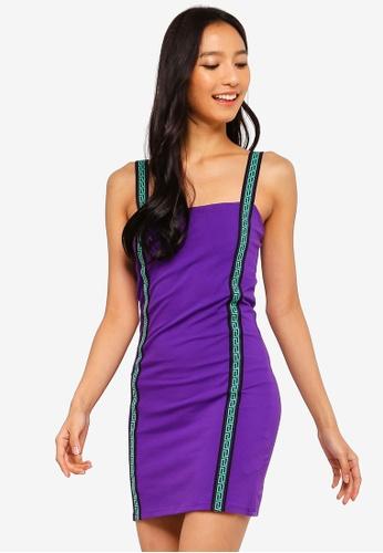 Factorie purple and multi Co-Ord Tape Strap Mini Dress 1B372AAF4576EAGS_1