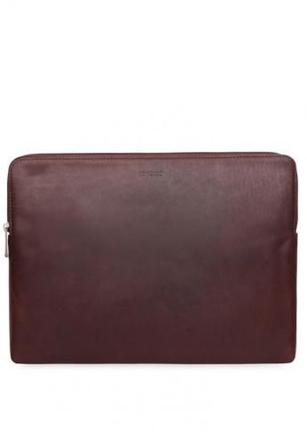 "knomo brown Barbican 15"" Laptop Sleeve MBP (Brown) 2346FAC5A7E696GS_1"