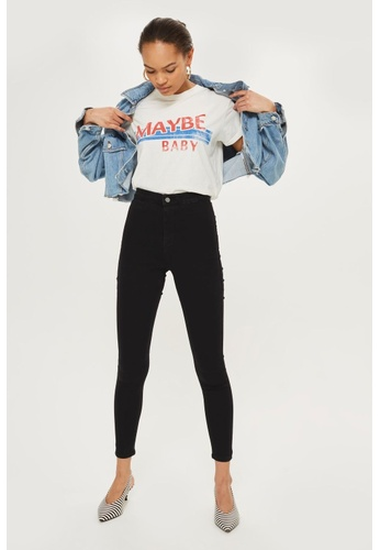 9a9443d8e4 Shop TOPSHOP Petite Black Joni Jeans Online on ZALORA Philippines