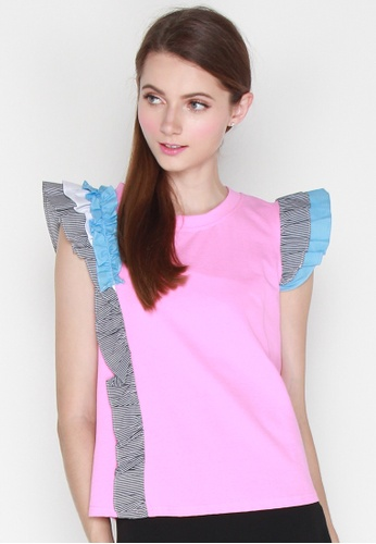 JOVET black and pink and blue Color Pop Top 37644AA21DE77AGS_1