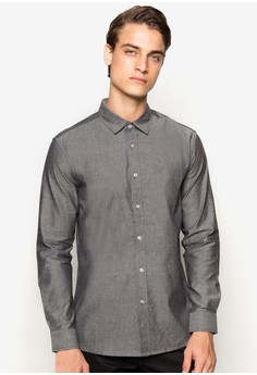 Basic Chambray Long Sleeve Shirt