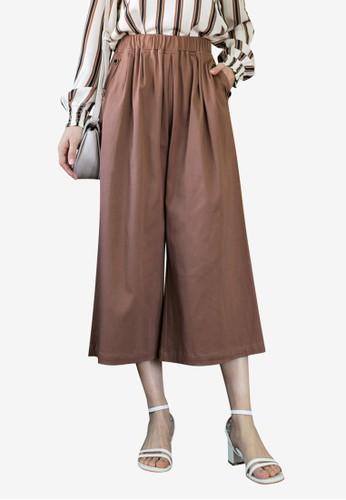 Tokichoi brown Elasticised Culottes 0B400AAA9CEF36GS_1