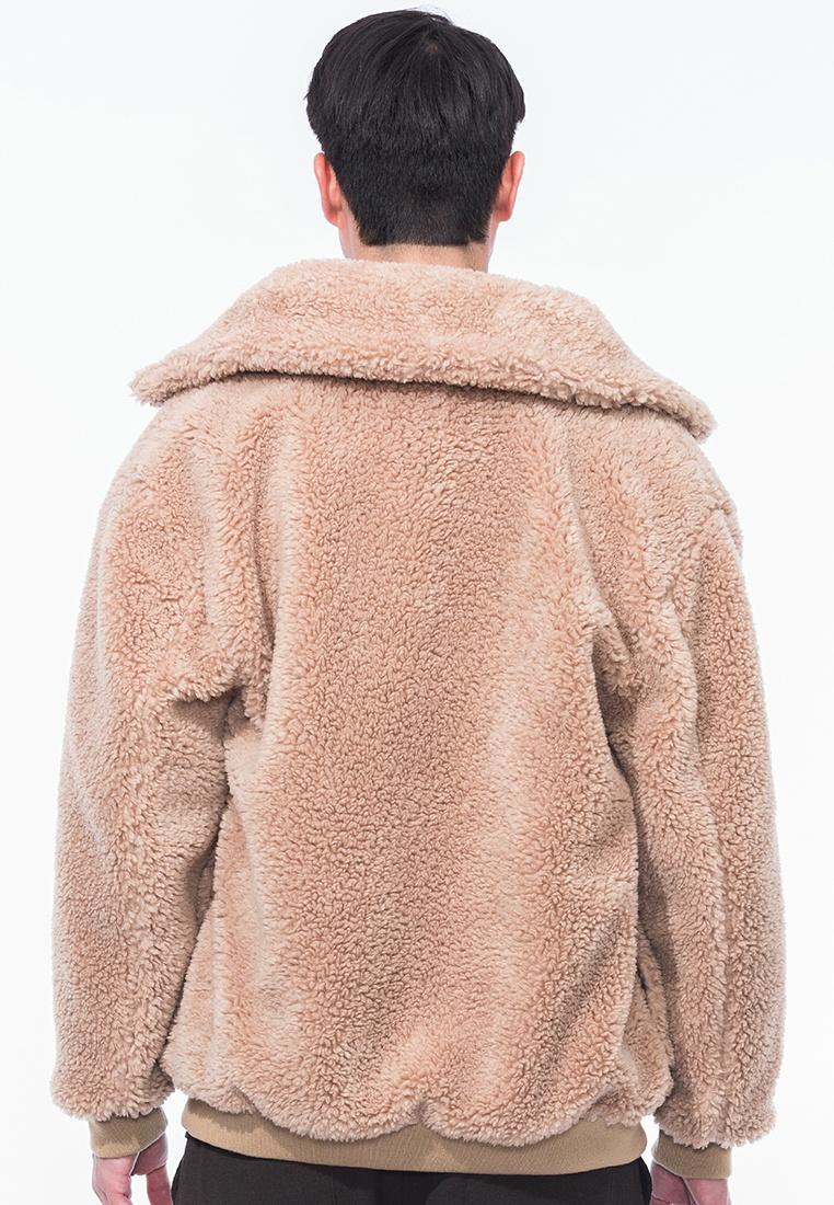 Ewan Sherpa Style Alpha Jacket Beige rxrvq4wXC