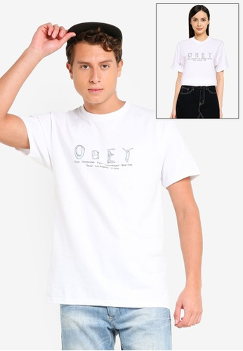 OBEY white Every Body Counts Tee C24C0AA1F1270FGS_1