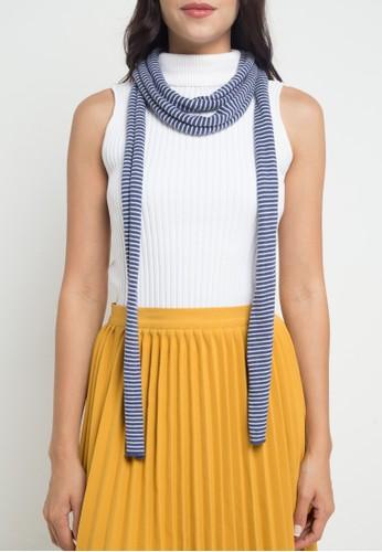 Noir Sur Blanc blue Ladies Scarf Stripe Colors E5CD1AA3A01F9FGS_1
