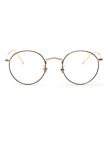 Kyfer's Eyewear & Essentials black and gold Korean Vintage Two Tone Glasses III KY376AC96HTBSG_1