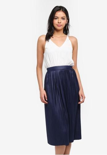 AX Paris navy Pleated Skirt 2 In 1 Dress 09695AA0B08302GS_1