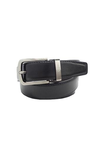 Goldlion black Goldlion Men Pin Belt - Black 97AA7ACF58B9E0GS_1