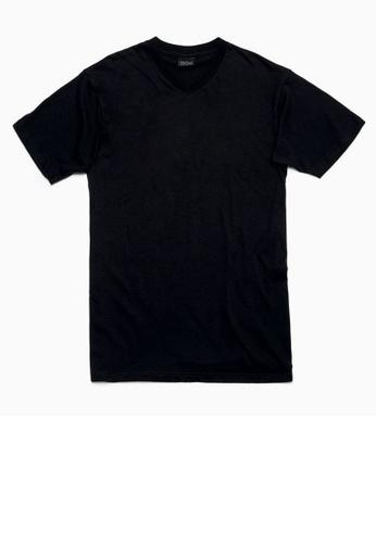 HOM black Hilary T-Shirt V Neck 967CBUS41AE309GS_1