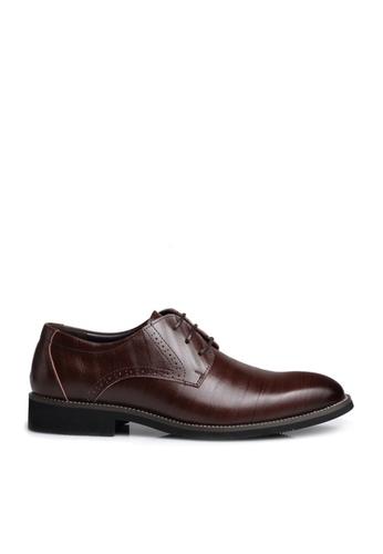 Twenty Eight Shoes 褐色 超纖皮英倫風沖花牛津鞋  VM2538 86426SH114706AGS_1