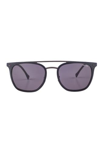Police black POLICE Impact 1 Browline Gunmetal Sunglasses SPL152 PO706AC22OWVMY_1