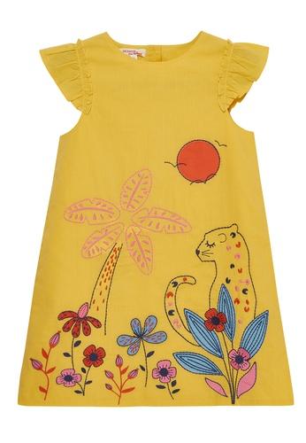 Du Pareil Au Même (DPAM) yellow Frill Sleeve Dress CB0C2KAD6F500AGS_1