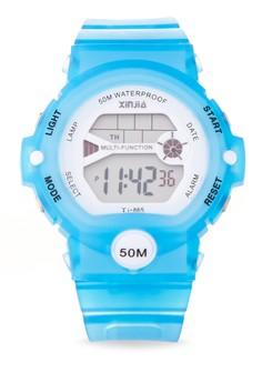 Sport Unisex Blue Resin Strap Watch XJ-865-Blue