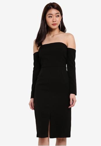 ZALORA black Studio Strapless Midi Dress 5CDECZZ631793AGS_1