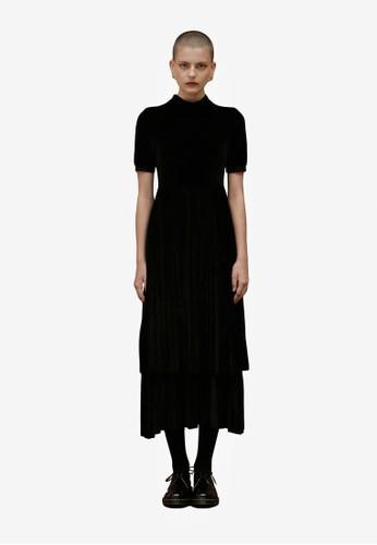 雙層細褶長洋裝esprit 鞋, 服飾, 洋裝