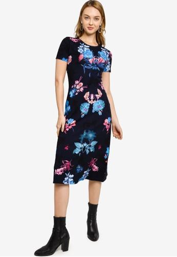 Desigual blue Floral T-Shirt Dress DBBA6AA125135DGS_1