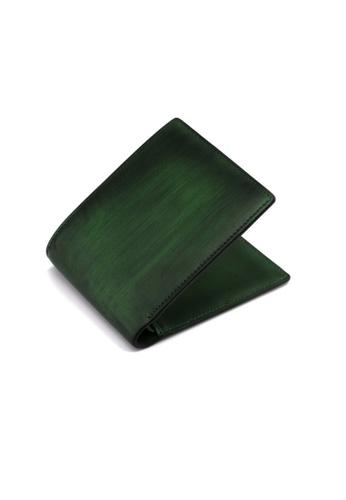 Crudo Leather Craft green Senz'altro Short Wallet -  Vintage Green (Photo Slot) BC8E7ACBDE8A7EGS_1