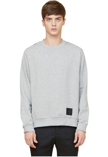MILLOGREM grey Half Check Sweatshirts MI241AA0GE5JSG_1