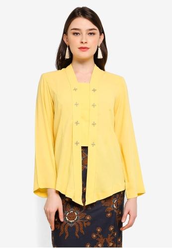 Lagendas yellow Sheryll Kebaya 617E6AABD5984EGS_1