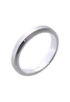 Matte Eternity Silver Ring for Men lr0012m
