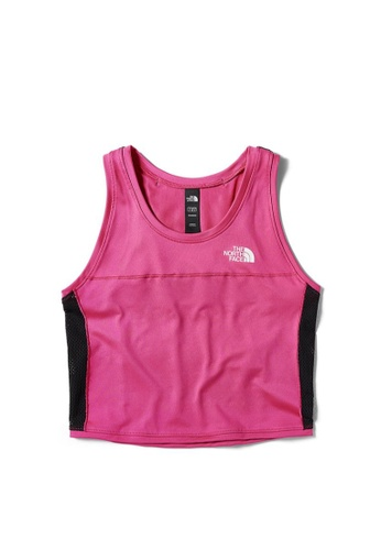 The North Face black The North Face Women Active Trail Tanklette MR. Pink and TNF Black ED69DAA5C7AA78GS_1
