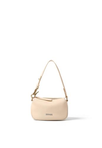 RABEANCO white and beige RABEANCO Clipper Shoulder Clutch Bag - Creme 15158AC22AD70DGS_1