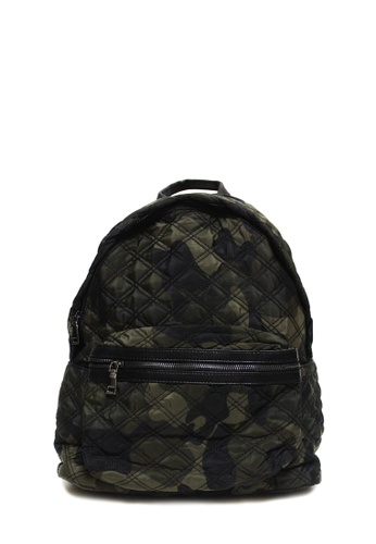 Dazz green Quilted Nylon Backpack - Army DA408AC38GHDMY_1