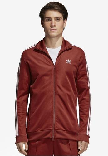 adidas red adidas originals beckenbauer track jacket AD372AA0SUNBMY_1