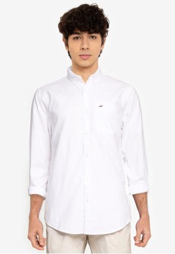 Hollister white Long Sleeve Slim Shirt 80ABEAA1551242GS_1