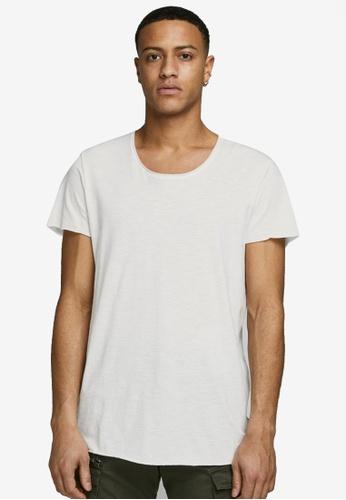 Jack & Jones white Short Sleeves Round Neck Tee E141FAA07CF74FGS_1
