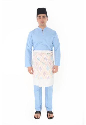 Amar Amran blue Baju Melayu Gumbae 83224AA005CCE6GS_1