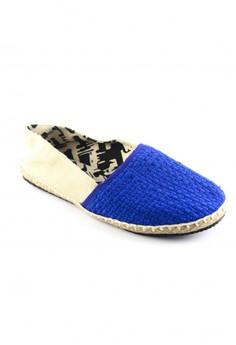 Habi Footwear Men's Classic Espadrilles - Blue/Beige