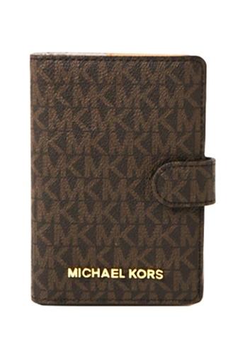 MICHAEL KORS brown Michael Kors Passport Cases - 35F8GTVT1B Brn / Acorn 074B7ACBAA89D6GS_1