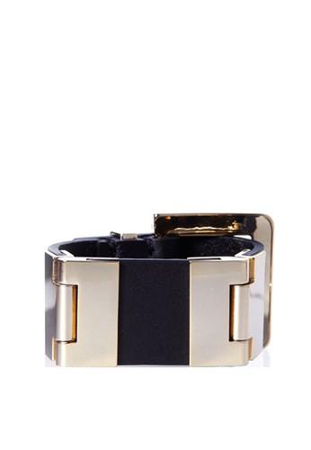 VENIMEUX Wide系列金色esprit hk牛皮手鐲, 飾品配件, 手鐲 & 手環