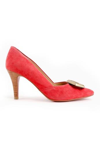 Joy & Peace red Pointed Toe Pumps JO458SH05CXAHK_1