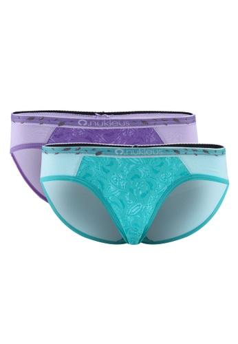 Nukleus green and purple Seed of Love Women Mini Panties 30878USD6E8337GS_1
