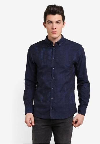 Boss Orange blue Epreppy Shirt BO434AA0RIDLMY_1